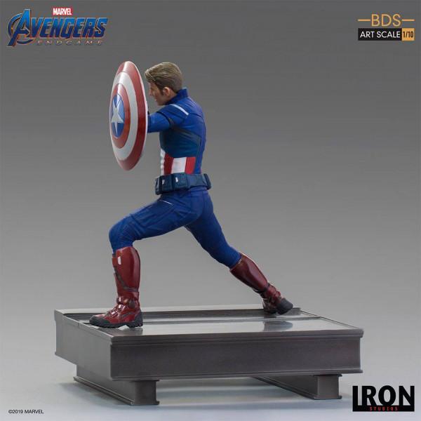 """Zum Marvel Blockbuster """"Avengers: Endgame"""" kommt diese offiziell lizenzierte Statue aus Resin. Die im Maßstab 1/10 gehaltene Statue ist ca. 19 x 16 x 15 cm groß und kommt mit passender Diorama-Base.Zusammen mit der separat erhältlichen Statue von Captain"""