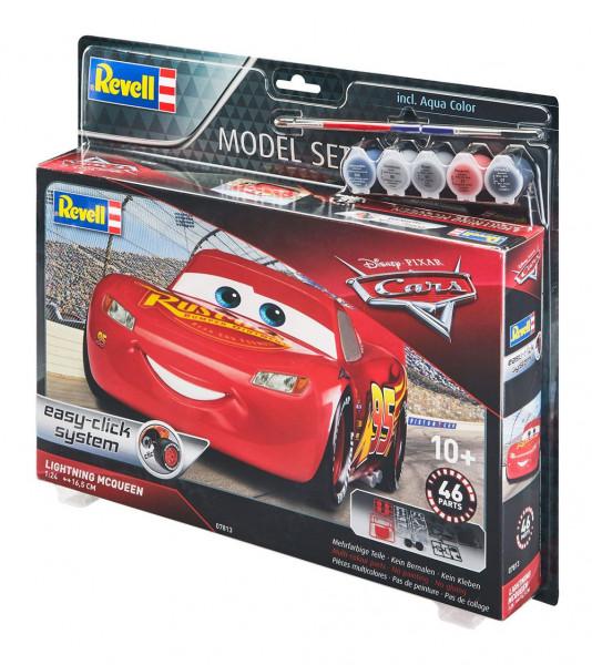 - Offiziell lizenzierter Modellbausatz<br />- Maßstab 1:24<br />- Länge: 17 cm<br />- mit bebilderter Bauanleitung<br />- 46 Teile<br /><br />Farben enthalten.<br /><br />Einfacher Modellbausatz des uneingeschränkten Stars aller Disney Cars-Filme. Mit Kön