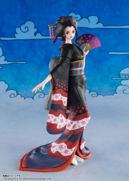 """Zum Manga/Anime """"One Piece"""" kommt diese detailreiche PVC-Statue aus Tamashii Nations """"FiguartsZERO""""-Reihe. Sie ist ca. 16 cm groß und wird in einer Fensterbox geliefert."""