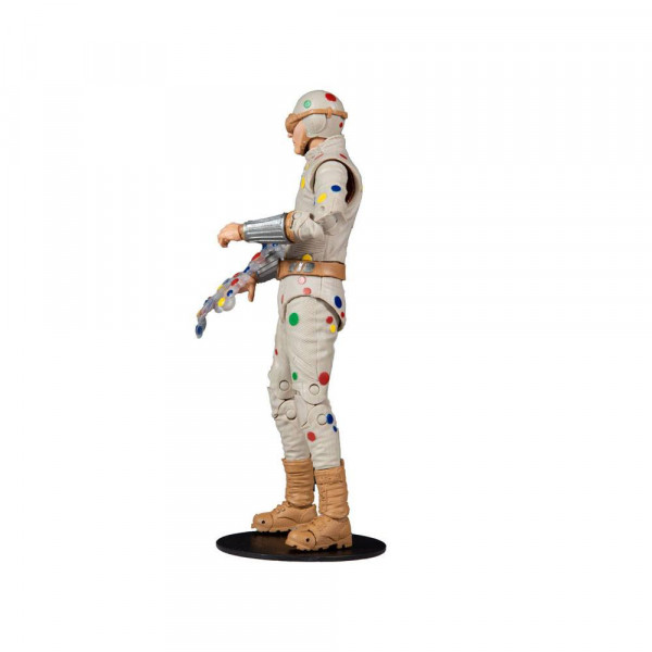 """Zum Film """"Suicide Squad"""" kommt diese detailreiche, bewegliche Actionfigur. Sie ist ca. 18 cm groß und wird mit weiterem Zubehör, Base und Sammelkarte in einer bedruckten Fensterbox geliefert.<br /><br />Die im """"Ultra Articulation""""-Design entworfene Figur"""