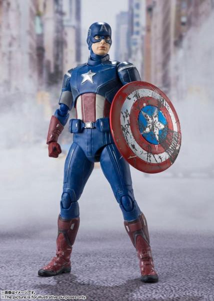 """Zum Marvel Blockbuster """"The Avengers"""" kommt diese großartige und voll bewegliche Actionfigur aus Tamashii Nations """"S.H. Figuarts""""-Reihe.<br /><br />Die Figur ist ca. 15 cm groß und wird mit weiterem Zubehör sowie Austauschteilen in einer Fensterbox gelief"""