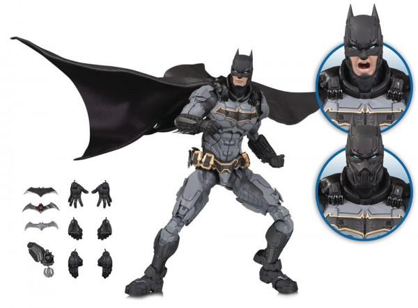 Aus DC Collectibles Premium-Actionfiguren-Reihe DC Prime kommt diese detailreiche Figur von Batman. Sie ist ca. 23 cm groß und wird mit weiterem Zubehör und Austauschteilen geliefert.