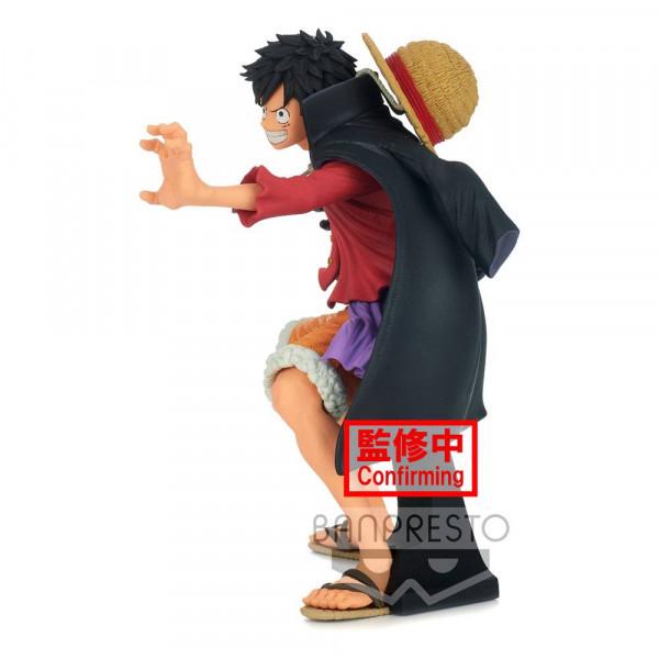 """Aus Banpresto's """"King Of Artist"""" Statuen-Reihe kommt diese detailreiche PVC Statue aus dem Anime """"One Piece"""". Sie ist ca. 20 cm groß und wird inkl. Base in einer bedruckten Box geliefert."""