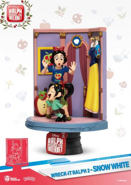 """Zum Animationsfilm """"Chaos im Netz"""" kommt dieses Diorama aus der """"D-Stage"""" Serie von Beast Kingdom Toys. Das aus PVC gefertigte Sammlerstück ist ca. 15 cm groß und wird in einer bedruckten Box geliefert."""