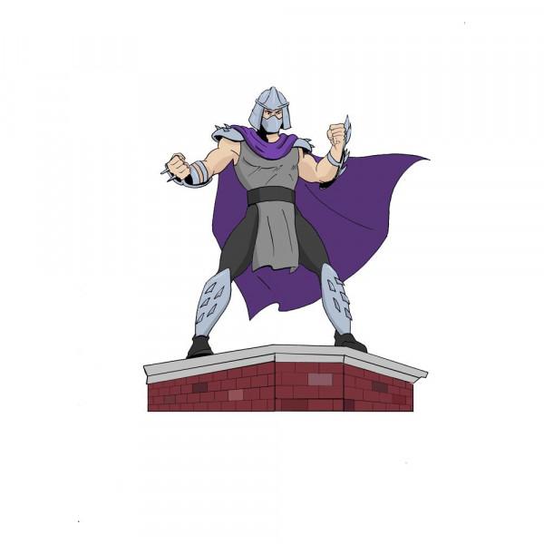 Zur Comicbuch-Serie´Teenage Mutant Ninja Turtles´ kommt diese detailreiche Statue aus PVC von Shredder im Maßstab 1/8.