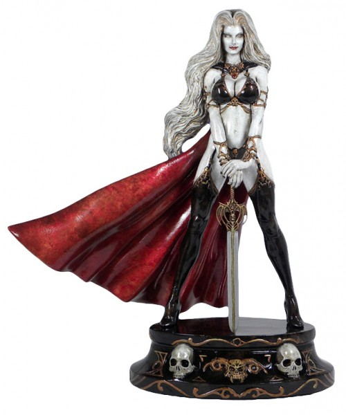 Lady Death Faux Bronze Statue White 34 cm