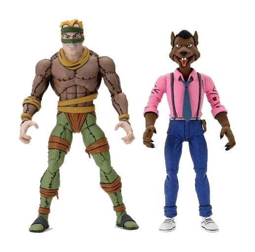 """Zur Zeichentrickserie """"Teenage Mutant Ninja Turtles"""" kommen diese detailreichen Actionfiguren. Sie sind ca. 18 cm groß und werden zusammen mit weiterem Zubehör in einer Fensterbox geliefert."""