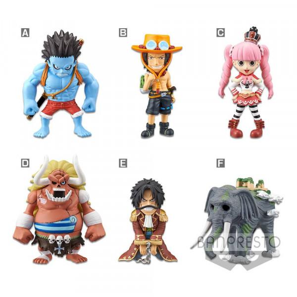 """Aus Banprestos """"WCF ChiBi (World Collectible Statuee)""""- Reihe kommt dieses Sortiment mit 12 Minifiguren (6-fach sortiert). Die detailreichen, PVC Statueen sind ca. 7 cm groß und werden mit Base geliefert."""
