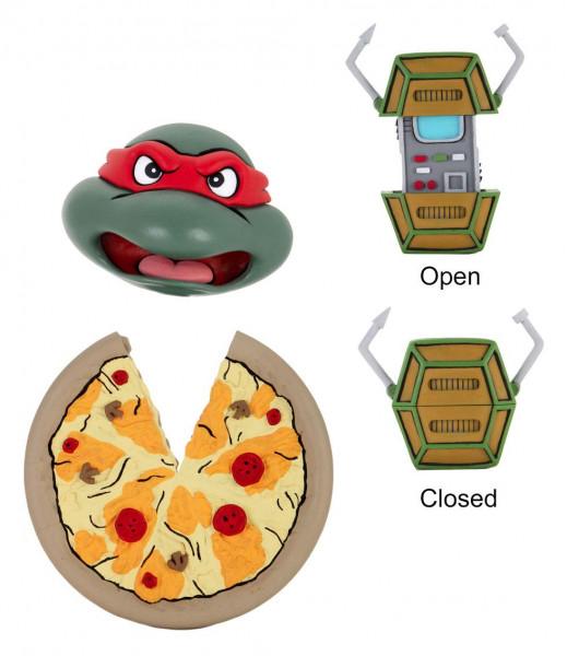 """Zur 1987er Cartoon-Serie """"Teenage Mutant Hero Turtles"""" kommt diese detailreiche Actionfigur im Maßstab 1/4. Sie ist ca. 41 cm groß und wird zusammen mit weiterem Zubehör und austauschbaren Teilen in einer Fensterbox geliefert."""