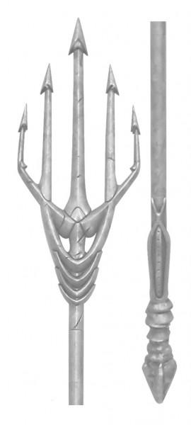 Zum DC Blockbuster Justice League kommt diese detailgetreue Replik von Aquaman's Dreizack. Die Replik aus echtem Holz, Plastik und Metall muss in wenigen, einfachen Schritten zusammengesteckt werden und ist ca. 186 cm lang.