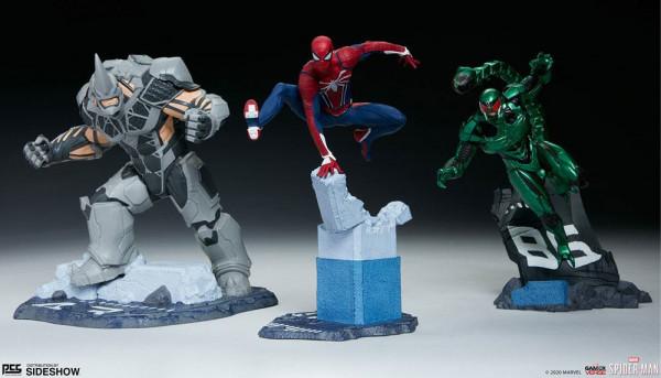 """Pop Culture Shock präsentiert dieses Set mit 3 detailreichen Statuen von Spider-Man, Rhino & Scorpion aus dem Videospiel """"Marvel's Spider-Man"""".<br /><br />Jede hochwertige Resin-Statue im Maßstab 1/12 ist ca. 17 cm groß."""