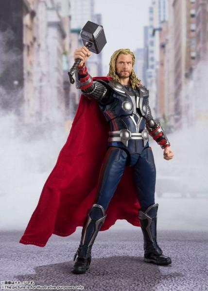 """Zum Marvel Blockbuster """"The Avengers"""" kommt diese großartige und voll bewegliche Actionfigur aus Tamashii Nations """"S.H. Figuarts""""-Reihe.<br /><br />Die Figur ist ca. 17 cm groß und wird mit weiterem Zubehör sowie Austauschteilen in einer Fensterbox gelief"""