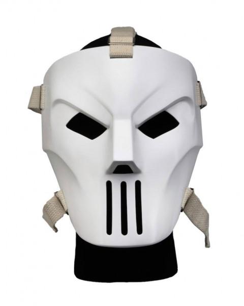 """Zum 1990er Film """"Turtles"""" kommt dieses originalgetreue Replik von Casey Jones' Maske im Maßstab 1/1. Die Maske aus robustem ABS kann selbst getragen oder ansprechend präsentiert werden."""