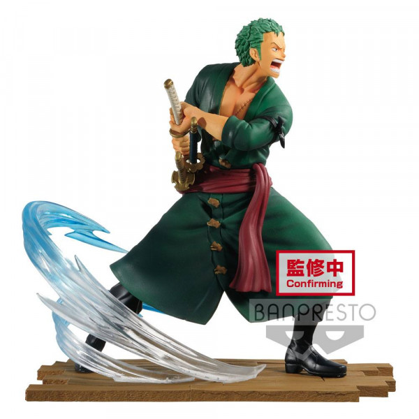 """Aus Banpresto's """"Log File Selection -Fight-"""" Statuen-Reihe kommt diese detailreiche PVC Statue aus dem Anime """"One Piece"""". Sie ist ca. 14 cm groß und wird inkl. Base in einer bedruckten Box geliefert."""