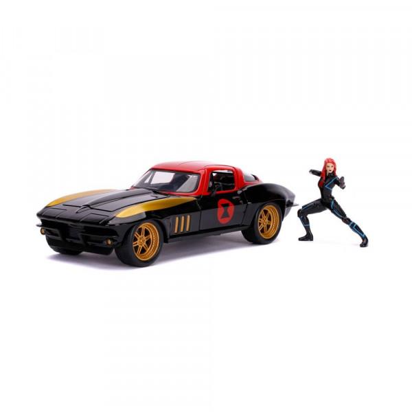 Marvel Avengers Hollywood Rides Diecast Modell 1/24 1966 Chevy Corvette mit Figur
