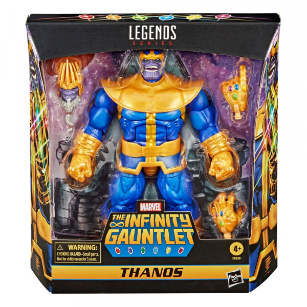 """Aus Hasbros """"Marvel Legends"""" Reihe kommt diese voll bewegliche Actionfigur. Sie ist ca. 18 cm groß und wird inkl. Zubehör in einer Fensterbox geliefert."""