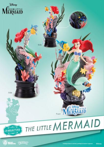 """Zum Disney-Film """"Arielle die Meerjungfrau"""" kommt dieses Diorama aus der """"D-Select"""" Serie von Beast Kingdom Toys. Das aus PVC gefertigte Sammlerstück ist ca. 15 x 8 x 6 cm groß und wird in einer bedruckten Box geliefert."""