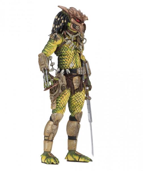 """Zum Dark Horse Comic """"Predator: 1718"""" kommt diese detailreiche Actionfigur. Die Figur ist ca. 21 cm groß und wird mit jeder Menge Zubehör und Austauschteilen in einer Fensterbox geliefert."""