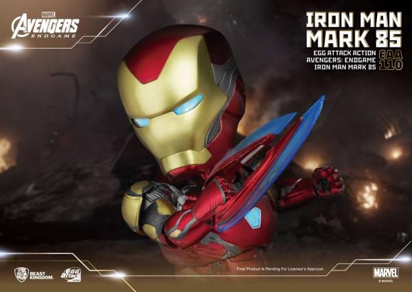 """Zum Marvel Blockbuster """"Avengers: Endgame"""" kommt diese detailreiche Actionfigur mit LED-Leuchtfunktion aus der """"Egg Attack Action"""" Serie von Beast Kingdom Toys. Sie ist ca. 16 cm groß und wird mit weiterem Zubehör sowie Austauschteilen in einer Fensterbox"""