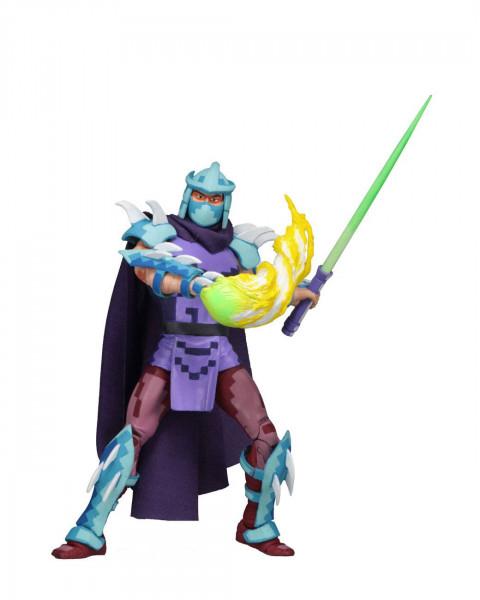 """Zum Videospiel """"Teenage Mutant Ninja Turtles: Turtles in Time"""" kommen diese detailreichen Actionfiguren. Sie sind ca. 18 cm groß und werden zusammen mit weiterem Zubehör in einer Fensterbox geliefert.<br /><br />Im Umkarton enthalten sind:<br /><br />- 4"""