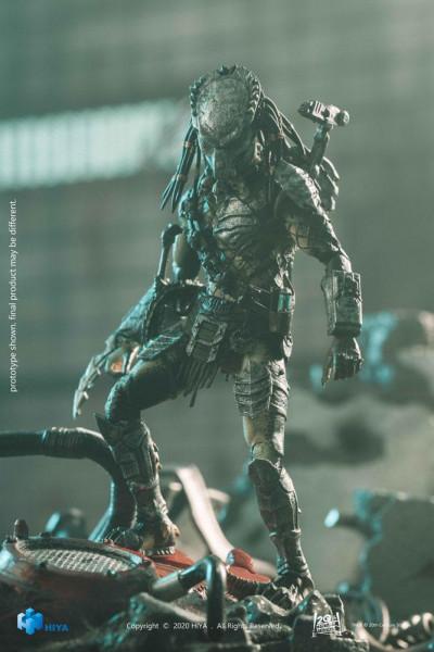 """Zum Film """"Alien vs. Predator 2"""" kommt detailreiche Actionfigur im Maßstab 1:18 aus Hiya Toys' """"Exquisite Mini""""-Reihe. Sie ist ca. 12 cm groß und wird mit weiterem Zubehör in einer Fensterbox geliefert."""