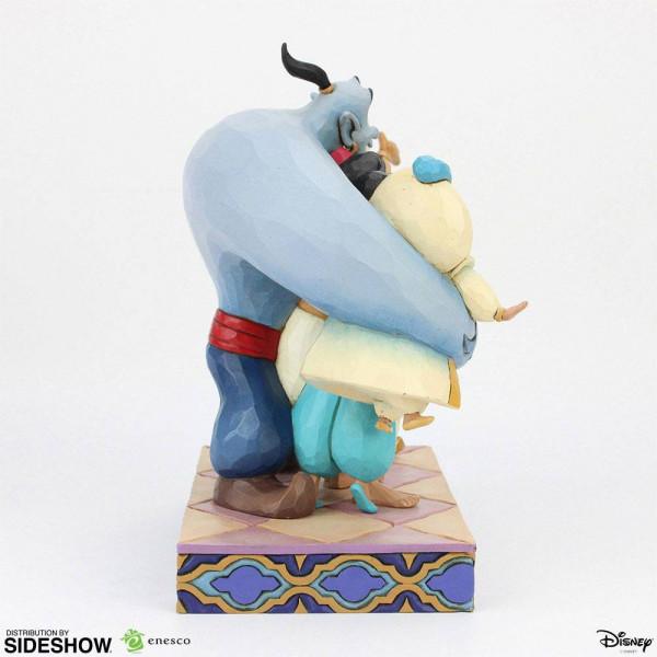 """Zu """"Aladdin"""" kommt diese detailreiche Statue aus hochwertigem Resin. Sie ist ca. 20 x 14 x 22 cm groß und wird in einer Geschenkbox geliefert."""