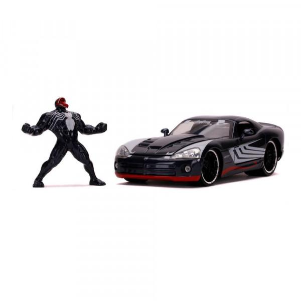 Marvel Spider-Man Hollywood Rides Diecast Modell 1/24 2008 Dodge Viper SRT10 mit Figur
