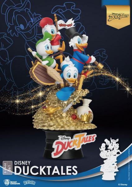 """Zum Animationsfilm """"DuckTales"""" kommt dieses Diorama aus der """"D-Stage"""" Serie von Beast Kingdom Toys. Das aus PVC gefertigte Sammlerstück ist ca. 15 cm groß und wird in einer bedruckten Box geliefert."""