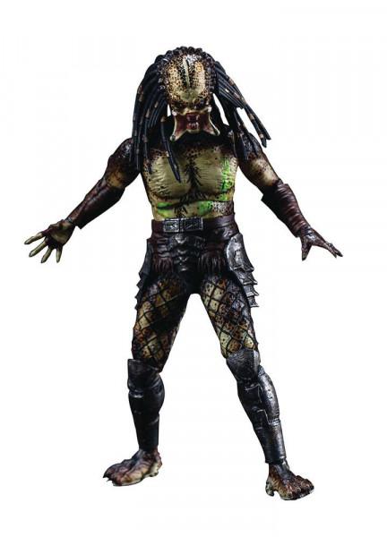 """Zum Film """"Predators"""" kommt diese detailreiche Actionfigur im Maßstab 1:18. Sie ist ca. 11 cm groß und wird mit weiterem Zubehör in einer Fensterbox geliefert."""