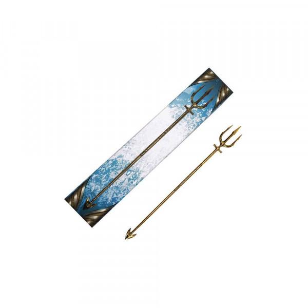 """Zum Film """"Aquaman"""" kommt diese qualitativ hochwertige Mini Replik aus Metall von Aquamans Dreizack.<br /><br />Größe: 30 cm"""
