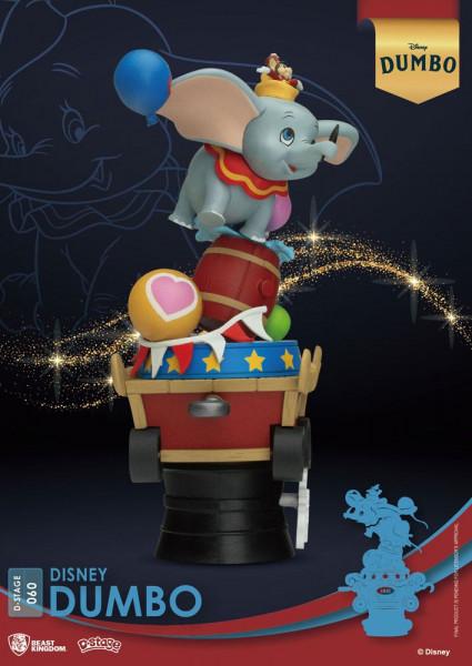 """Zum Animationsfilm """"Dumbo"""" kommt dieses Diorama aus der """"D-Stage"""" Serie von Beast Kingdom Toys. Das aus PVC gefertigte Sammlerstück ist ca. 15 cm groß und wird in einer bedruckten Box geliefert."""
