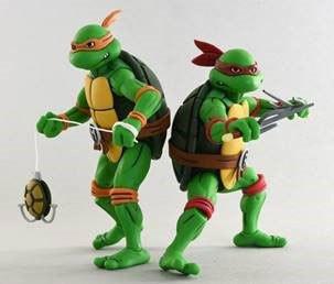 Teenage Mutant Ninja Turtles Actionfiguren Doppelpack Michelangelo & Raphael 18 cm