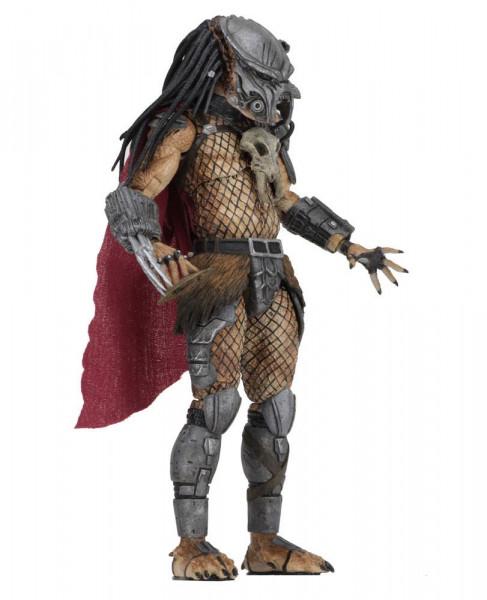 """Aus NECAs Figuren-Reihe kommt diese coole Actionfigur des Ahab Predator aus den """"Predator"""" Comics von Dark Horse. Sie ist ca. 20 cm groß und wird mit jeder Menge Zubehör und Austauschteilen in einer Fensterbox geliefert."""
